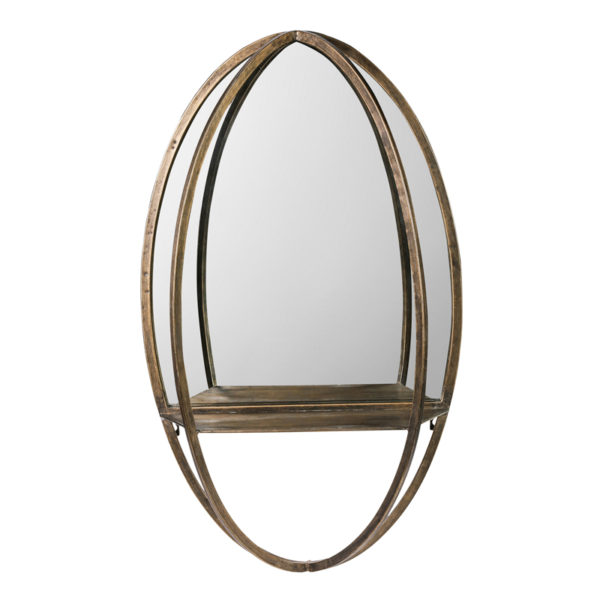 Mitzy Brass Ovale Spiegel | PTMD