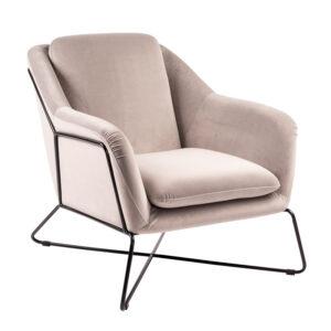 Fauteuil-Soho-Slate-grey-zwart-frame