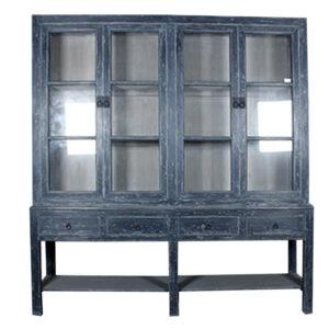 Grote-blauwe-buffetkast-met-4-deuren-en-4-lades-1