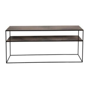 Notre-Monde-Heavy-aged-mirror-sofa-console---bronze