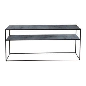 Notre-Monde-Heavy-aged-mirror-sofa-console---charcoal