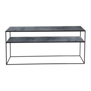 Notre-Monde-Heavy-aged-mirror-sofa-console---charcoal