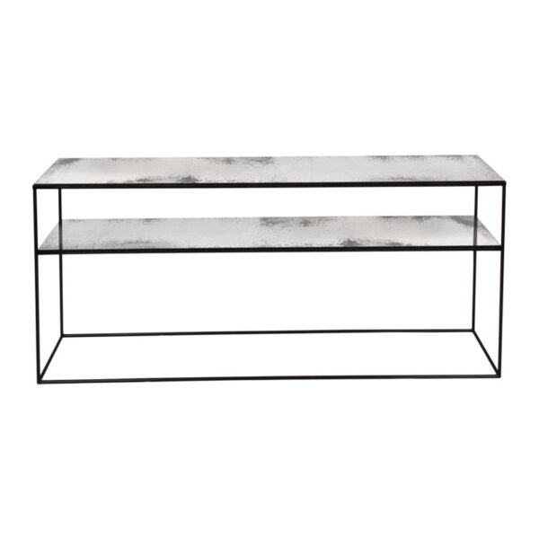 Notre-Monde-Heavy-aged-mirror-sofa-console---clear